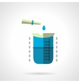 Chemical experiment flat color icon vector image