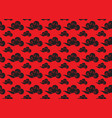 chinese cloud seamless pattern on red vector image vector image