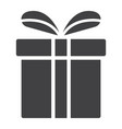 Christmas gift box glyph icon new year