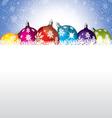 Christmas Shiny Decoration Background vector image