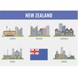 Cities in New Zealand vector image
