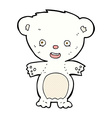 comic cartoon polar bear vector image vector image