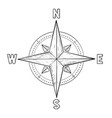 compass rose with cardinal points hand drawn vector image