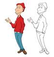 cute men cartoon character vector image