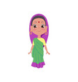cute smiling indian girl in colorful clothes and vector image vector image
