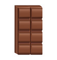 delicious chocolate bar vector image
