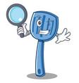 detective spatula character cartoon style vector image vector image