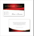 elegant business card design template 04 vector image vector image
