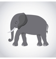 elephant silhouette asian icon vector image vector image