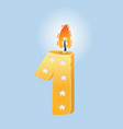 first birthday candle vector image