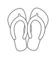 flip flops icon image vector image vector image