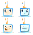 four funny tv vector image vector image