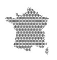 france map abstract schematic from black vector image