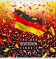 germany independence day card with flag confetti vector image