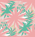graphic seamless pattern of exotic leaves in vector image vector image