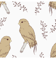 Hand drawn bird seamless pattern vector image vector image