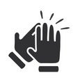 hands clapping symbol icons vector image vector image