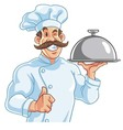 Healthy Fit Muscly Chef vector image vector image