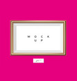 horizontal golden frame on pink wall eps10 vector image