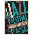 jazz fest vector image vector image