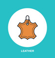 leather material line logo flat sign for clothes vector image vector image
