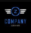 letter z automotive creative business logo vector image vector image