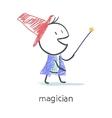 Magician vector image