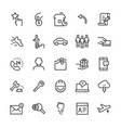 miscellaneous icon set in line style editable vector image vector image