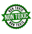non toxic label or sticker vector image vector image