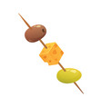 olives fruit with cheese in vector image vector image