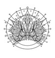 ornate inked decorative mandala inspired element vector image vector image