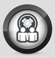 partnership agreement icon vector image vector image