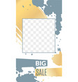 personal blog social networks stories cover frame vector image vector image