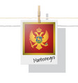 photo of montenegro flag vector image vector image