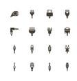 plug - flat icons vector image vector image