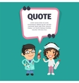 Quote with Doctors vector image vector image