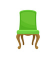 retro green soft chair comfortable furniture vector image vector image