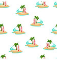 sea summer seamless pattern palm vector image vector image
