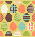 seamless retro easter eggs pattern vector image vector image