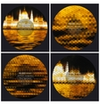 Set of 4 music album cover templates Night city vector image vector image
