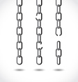 Set of chains vector image vector image