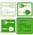 set of gardening tools logo vector image