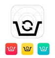 Shopping basket exchange icon vector image vector image