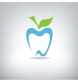 silhouette of a tooth in the form of an apple vector image vector image