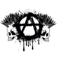 symbol anarchy and two skulls vector image vector image
