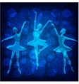Tender ballet dancers on blue background vector image