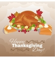 Turkey and pumpkin cake for Thanksgiving Day vector image