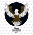 usa independence day card with eagle vector image vector image