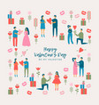 valentines day adult couples vector image