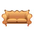 vintage sofa icon cartoon style vector image